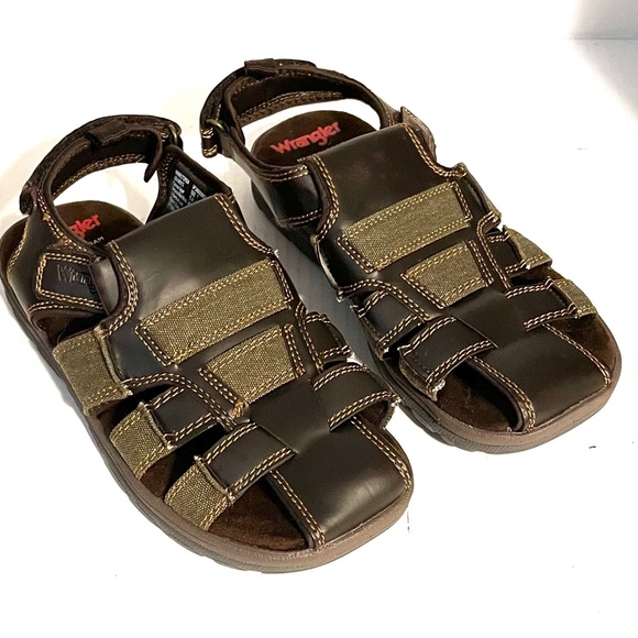 Wrangler Sandals Adjustable Brown Size 7